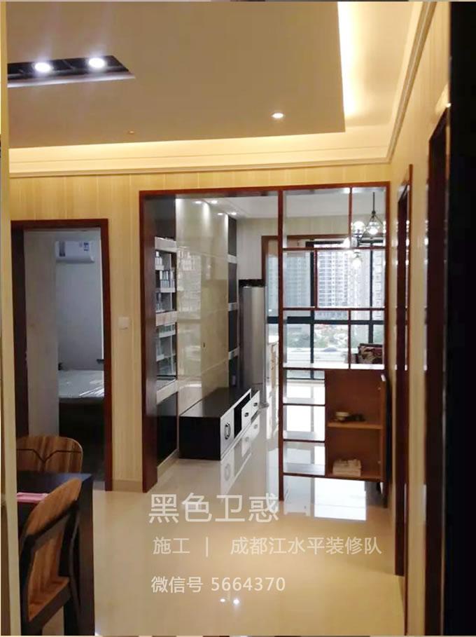 成都装修队江水平黑色卫惑颐和京都作品展示