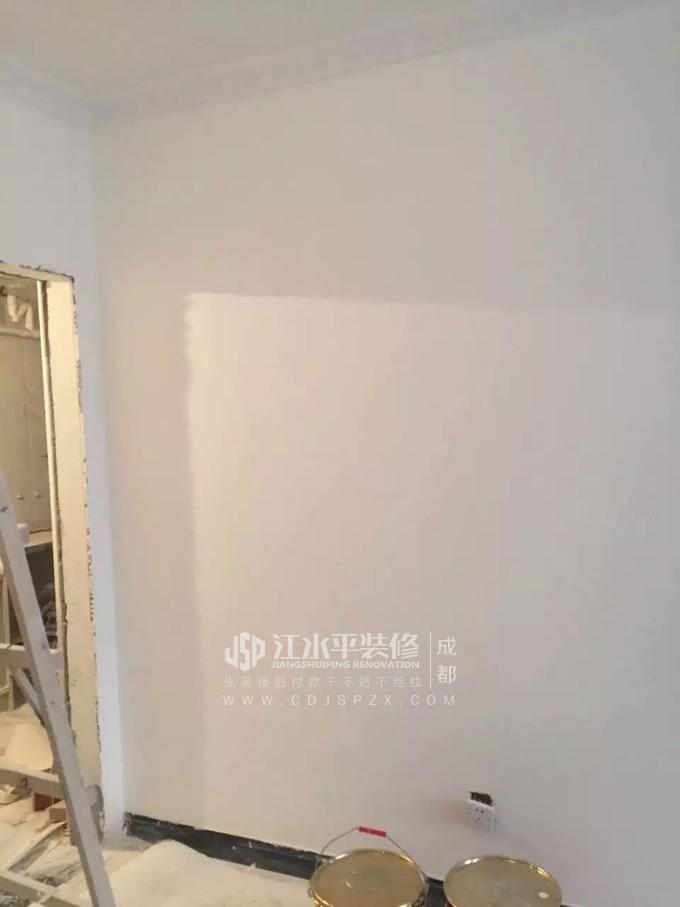 成都锦尚春天毛毛家装修漆工师傅找平装修施工