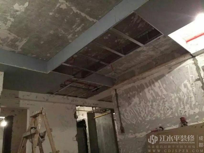 成都南城都汇小耿家装修木作吊顶施工