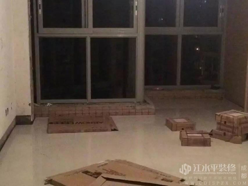 成都南城都汇小耿家装修施工客厅地砖