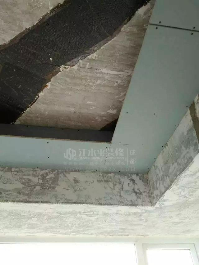 成都保利城三期赵先生家木作装修施工进行中