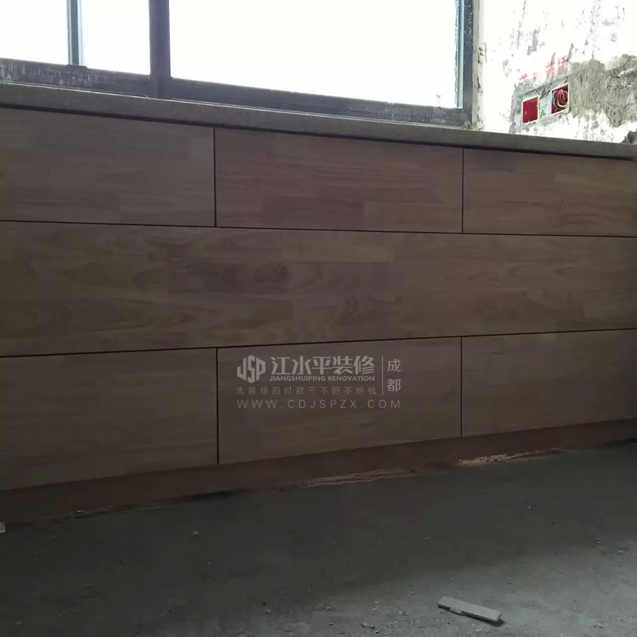 成都光华锦苑何先生家装修木作施工已经完成