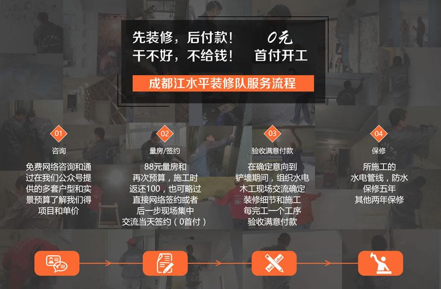 成都江水平装修队施工签约流程