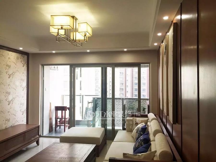 成都南城都汇杨姐家新中式设计风格装修完工