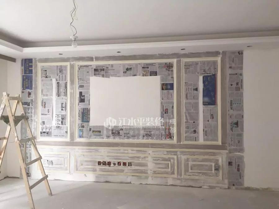 成都颐和京都罗老师家油漆施工准备工作