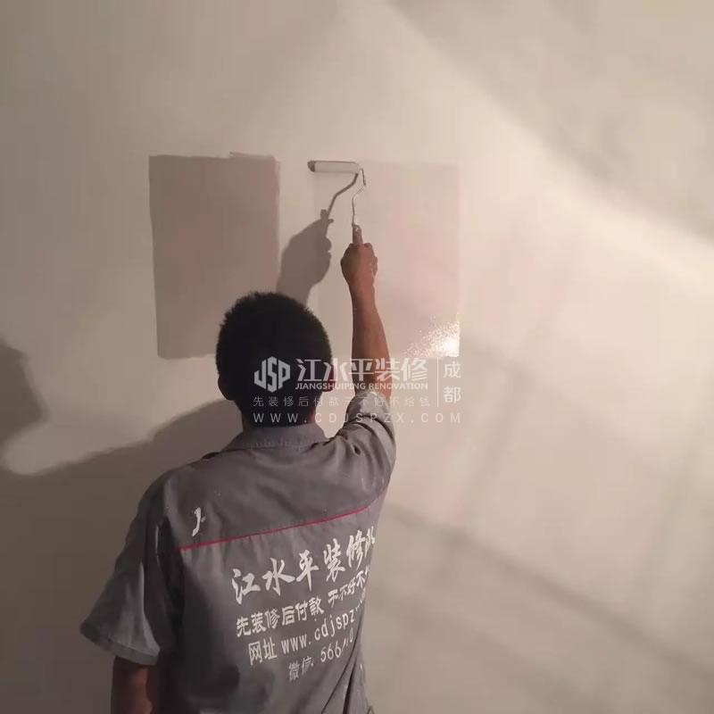 成都瑞安城中汇装修木工漆工师傅收尾
