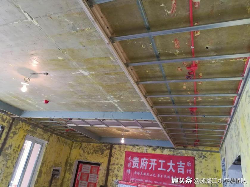 成都温江洲际亚洲湾木作吊顶施工完成