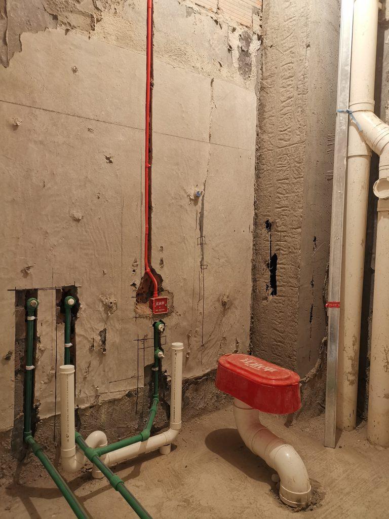 成都时代天城装修日记旧房水电全改案例