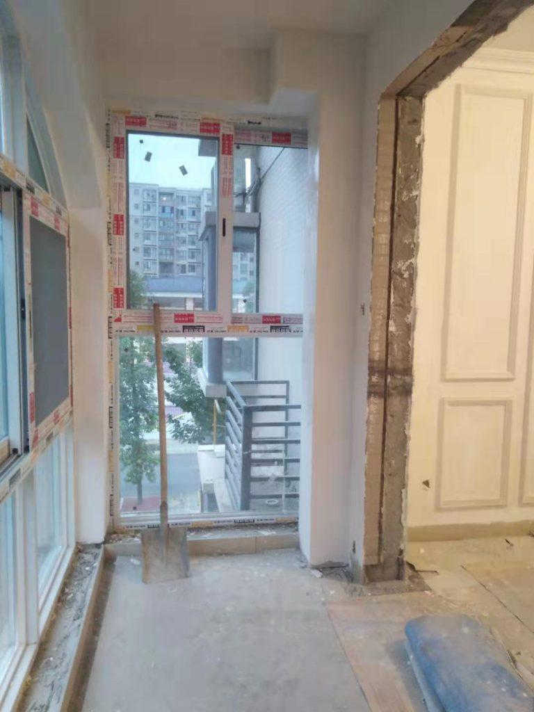 成都蜀镇观澜湖装修日记案例客厅阳台乳胶漆基层完工